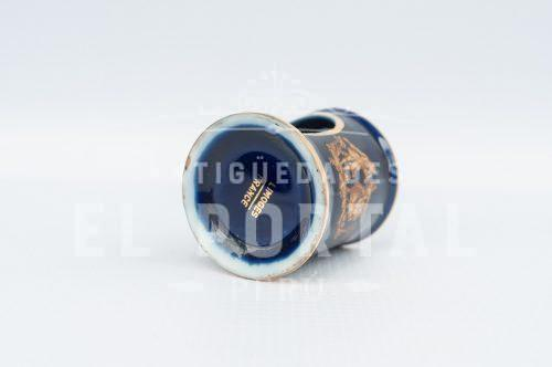 Limoges - Calentador de tetéra en miniatura azul cobalto | 3