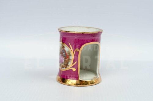Limoges - Calentador de tetéra en miniatura color rosa | 1