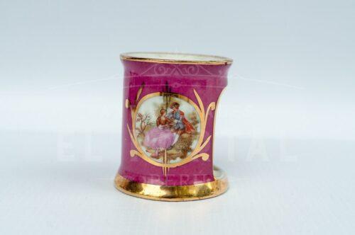 Limoges - Calentador de tetéra en miniatura color rosa | 5