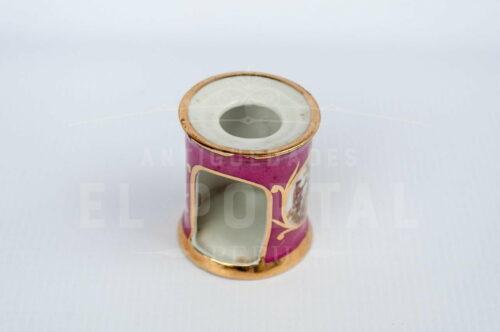 Limoges - Calentador de tetéra en miniatura color rosa | 3