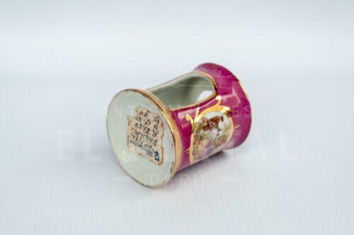 Limoges - Calentador de tetéra en miniatura color rosa | 2