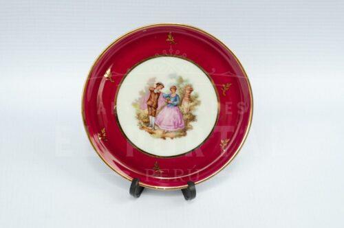 Limoges porcelana plato decorativo miniatura | 1