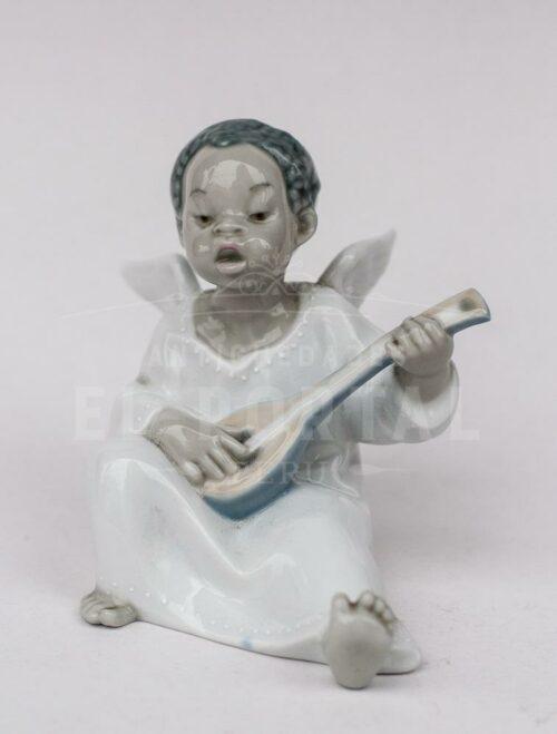 Lladró  figura de porcelana Angelito músico | 1