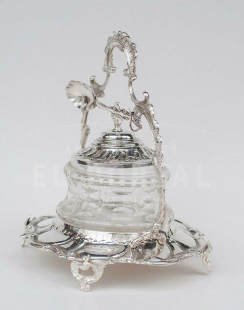 Salsera de plaqué con cristal | 7