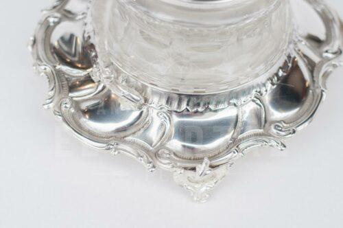 Salsera de plaqué con cristal | 6