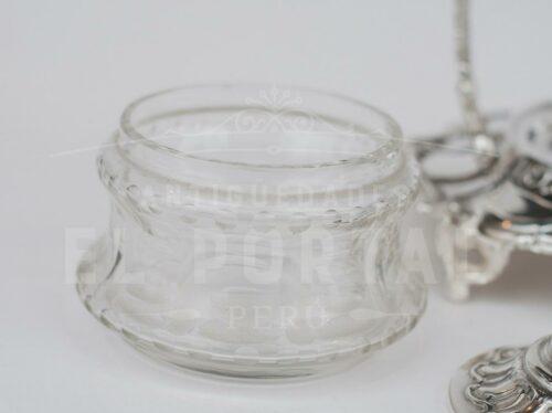 Salsera de plaqué con cristal | 3