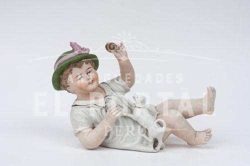 Figura de Niño de Piano de Biscuit | 1