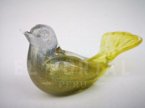 Figura de paloma de Murano con escarcha de oro | 1
