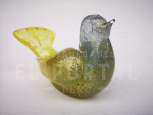 Figura de paloma de Murano con escarcha de oro | 5
