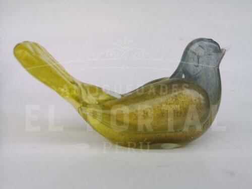 Figura de paloma de Murano con escarcha de oro | 4