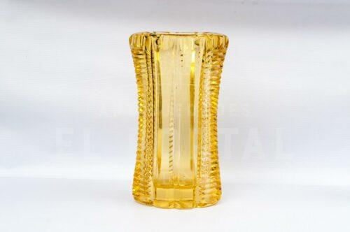 Cristal de Bohemia - Florero de color ambar | 1