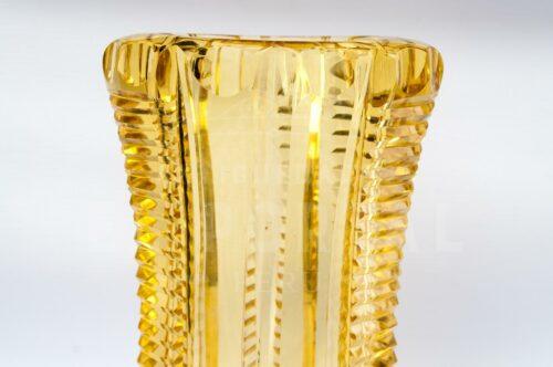 Cristal de Bohemia - Florero de color ambar | 4