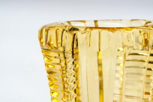 Cristal de Bohemia - Florero de color ambar | 2