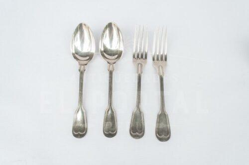 Christofle tenedor y cuchara de plaqué | 1