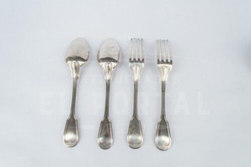 Christofle tenedor y cuchara de plaqué | 4