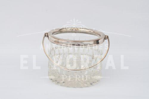 Hielera de cristal con plaqué | 3