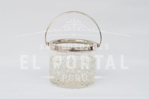 Hielera de cristal con plaqué | 1