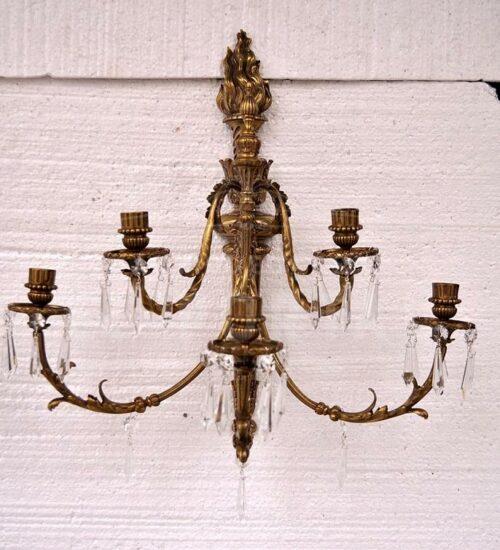 Braquete de bronce estilo Luis XVl   1