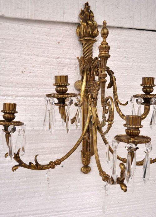 Braquete de bronce estilo Luis XVl   2