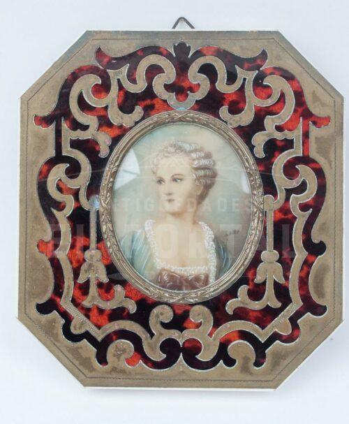Porta Retrato en marco de Carey  y Bronce | 1