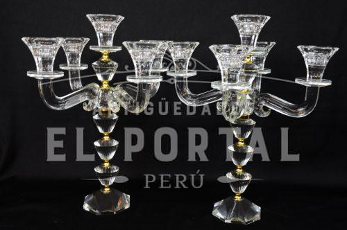 Par de candelabros de cristal (Par) | 1