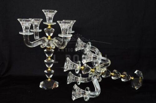 Par de candelabros de cristal (Par) | 2