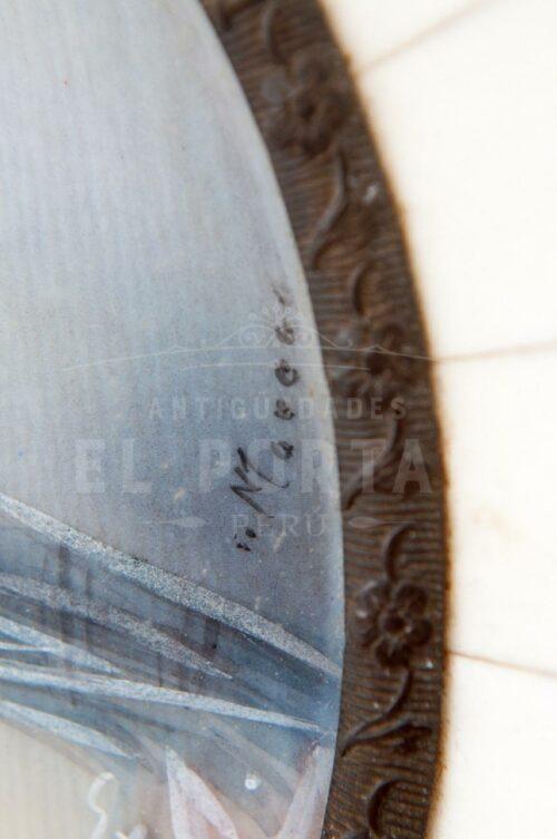 Porta Retrato pintado sobre marfíl | 2