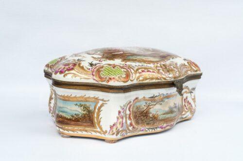 Sevres cofre  de porcelana firmado | 7