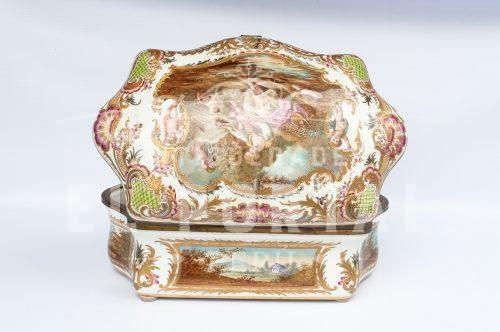 Sevres cofre  de porcelana firmado | 5