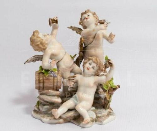 Capodimonte porcelana  figura de angelitos | 1