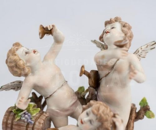 Capodimonte porcelana  figura de angelitos | 4