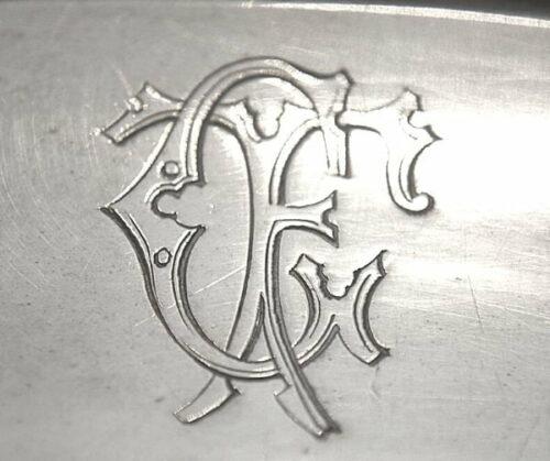 Christofle plato de plaqué estilo Luis XVl modelo perlas | 2