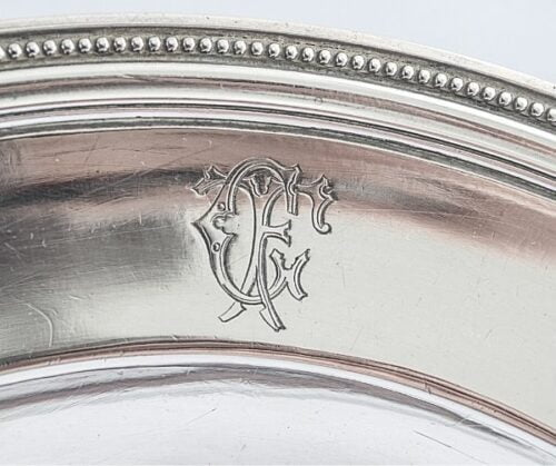 Christofle plato de plaqué estilo Luis XVl modelo perlas | 3