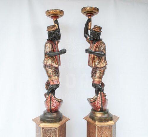 Blackamoor Gondolero veneciano de madera (Par) | 7