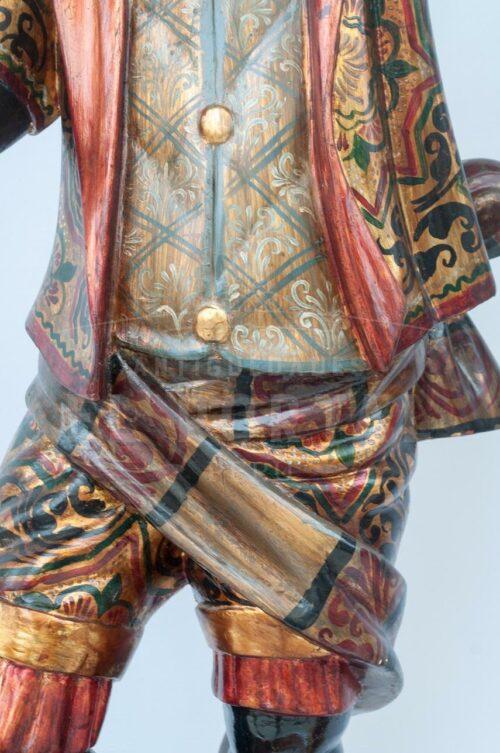 Blackamoor Gondolero veneciano de madera (Par) | 4