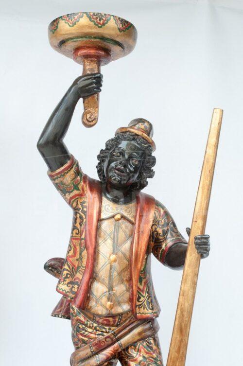 Blackamoor Gondolero veneciano de madera (Par) | 3