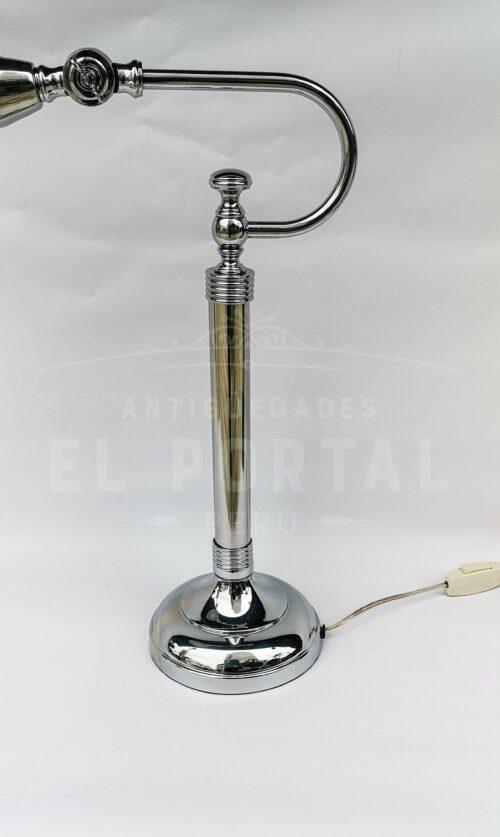 Lámpara de mesa estilo Art Déco metal cromado (Par) | 3