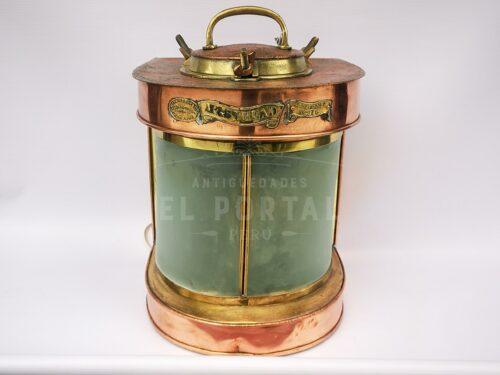 Farol de barco de cobre y bronce | 1