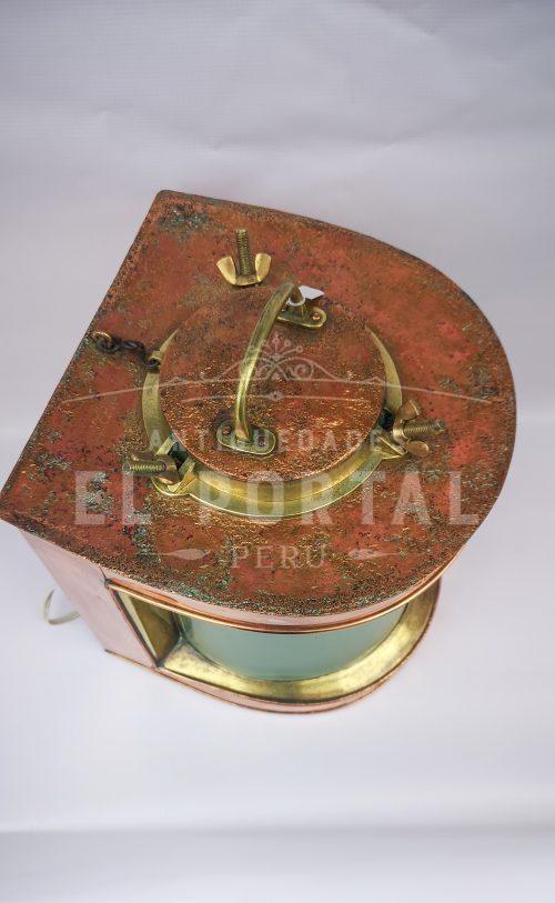 Farol de barco de cobre y bronce | 3