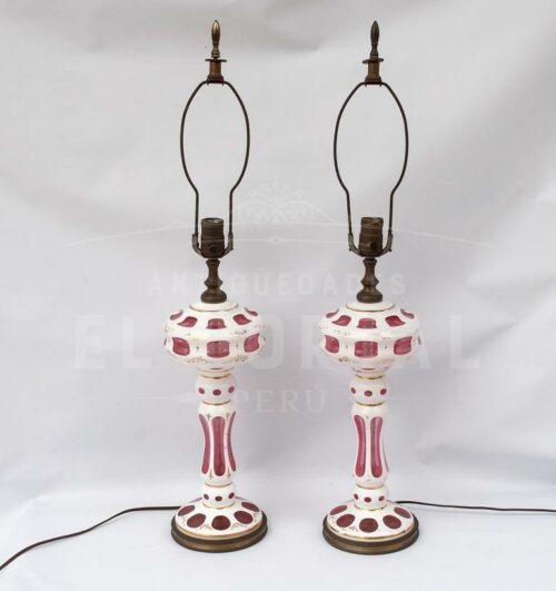 Lámpara de mesa de cristal de Bohemia (Par) | 1