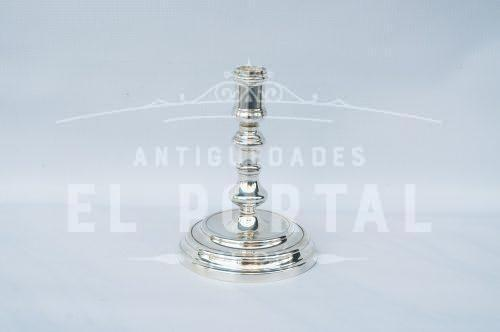 Christofle porta vela de plaqué francés | 1