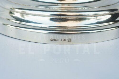 Christofle porta vela de plaqué francés | 2
