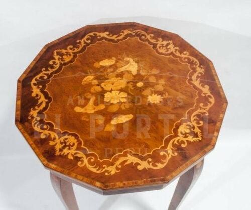 Mesa costurero de madera con marquetería Italiana | 2