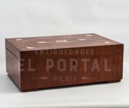Cofre Joyero de madera con marquetería | 1