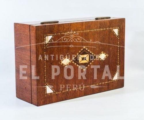 Cofre Joyero de madera con marquetería | 4