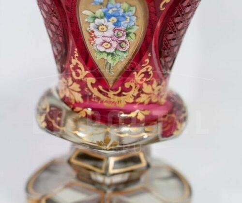 Florero de cristal de Bohemia - Circa 1860 | 1