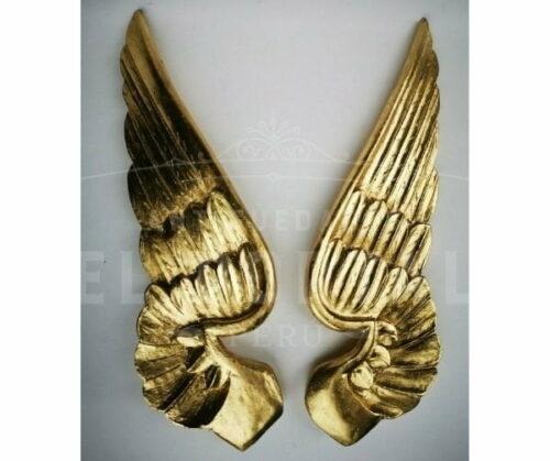 alas de madera dorada