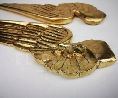 Alas de madera tallada dorada | 5