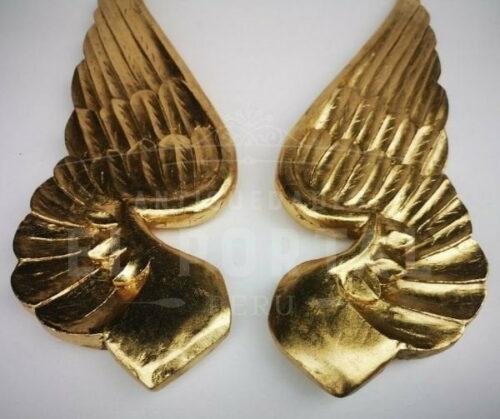 Alas de madera tallada dorada | 3
