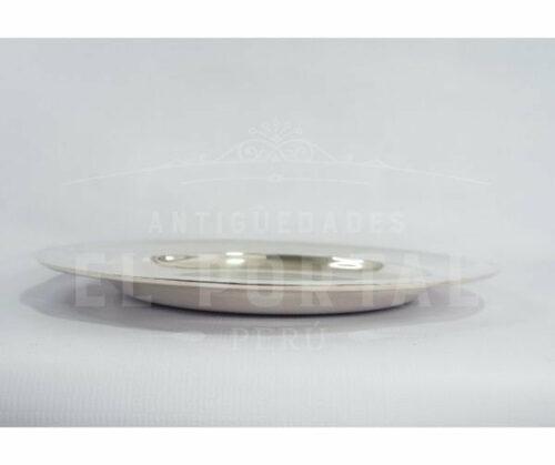 Bandeja redonda de plaqué francés Christofle | 2